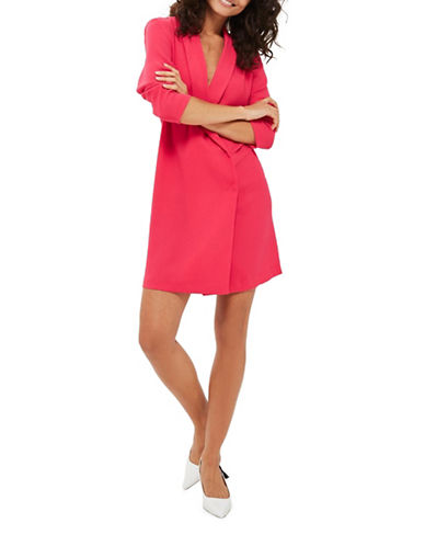 Topshop Bow-Back Blazer Dress-FUSCHIA-UK 8/US 4