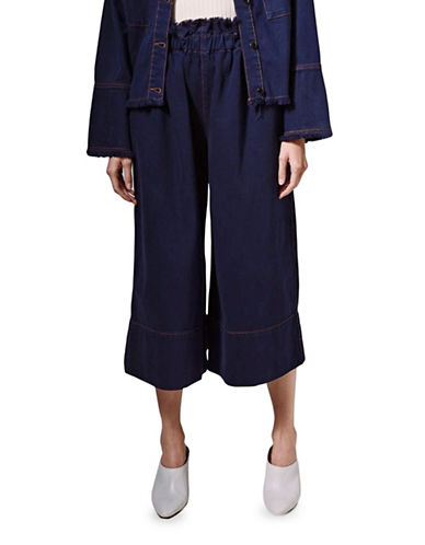 Topshop Baggy Crop Jeans by Boutique-INDIGO-UK 10/US 6