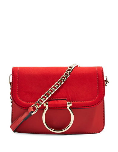 Topshop Remy Crossbody Bag-RED-One Size