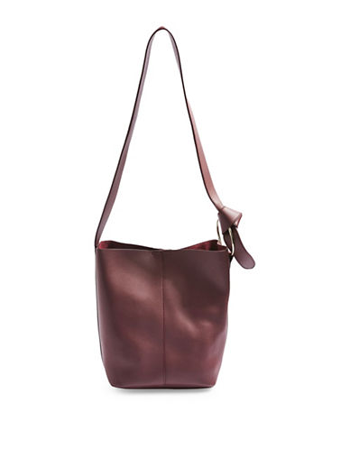 Topshop Rebecca Shoulder Bag-BURGUNDY-One Size