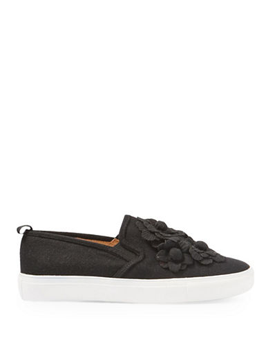 Topshop Flower Slip On Shoes-BLACK-EU 41/US 10.5