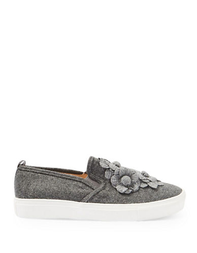 Topshop Flower Slip On Shoes-GREY-EU 41/US 10.5