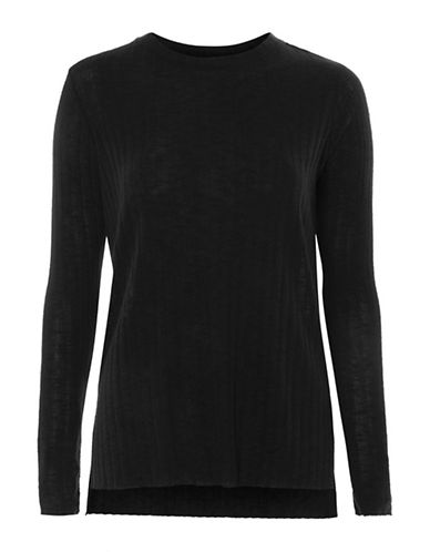 Topshop Cut-and-Sew Top-CHARCOAL-UK 6/US 2