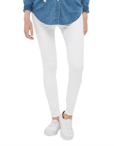 Topshop MATERNITY MOTO Joni Skinny Jeans 32-Inch Leg-WHITE-UK 12/US 8