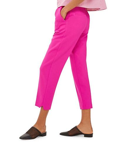 Topshop Split Hem Peg Trousers-BRIGHT PINK-UK 8/US 4