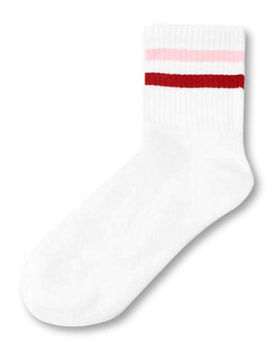 Topshop Sporty Tube Ankle Socks-WHITE-1