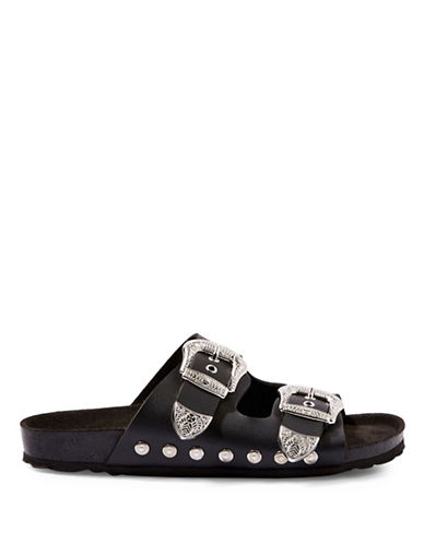 Topshop Falcon Studded Sandals-BLACK-EU 38/US 7.5