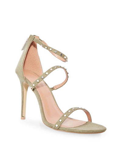 Topshop Madeline Three-Strap Sandals-KHAKI-EU 40/US 9.5