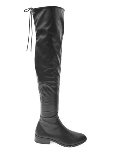 Topshop Danger Tall Boots-BLACK-EU 38/US 7.5