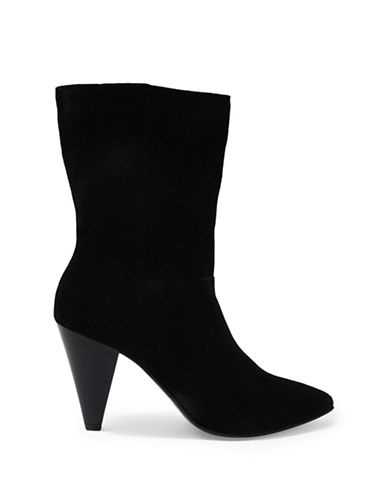 Topshop Hollie Pull-On Boots-BLACK-EU 38/US 7.5