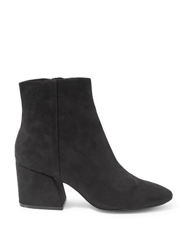Topshop Brooke Faux Suede Ankle Boots-BLACK-EU 39/US 8.5