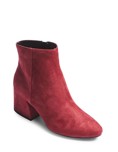 Topshop Brooke Faux Suede Ankle Boots-BURGUNDY-EU 37/US 6.5