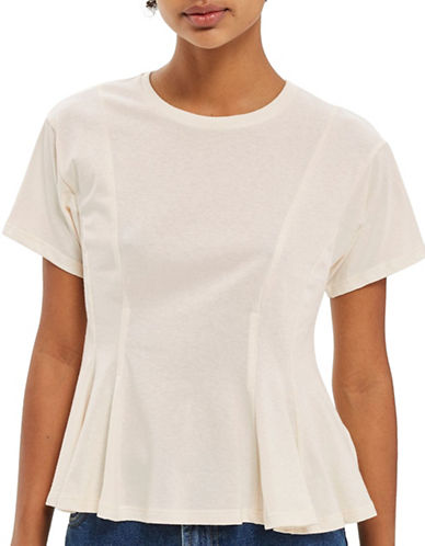 Topshop Seam Tee-STONE-UK 8/US 4