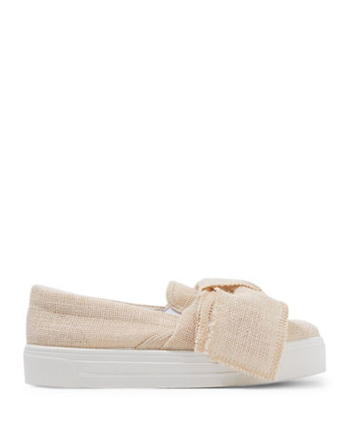 Topshop Tutu Oversized Bow Sneakers-TAUPE/BEIGE-EU 40/US 9.5