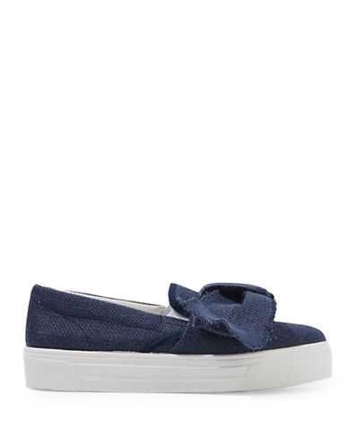 Topshop Tutu Oversized Bow Sneakers-BLUE-EU 39/US 8.5