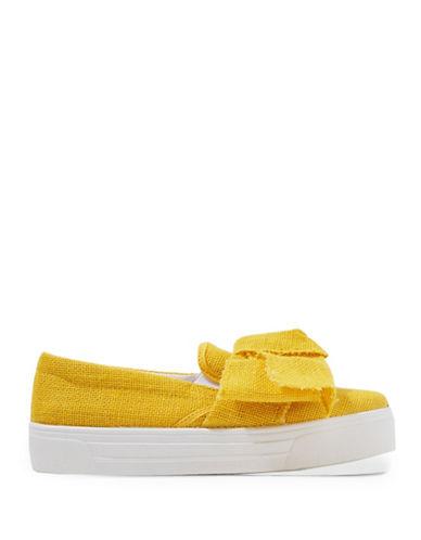 Topshop Tutu Oversized Bow Sneakers-YELLOW-EU 40/US 9.5