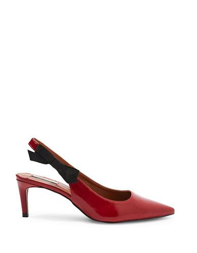 Topshop Jump Patent Leather Slingback Heels-RED-EU 39/US 8.5