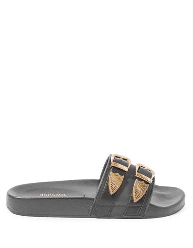 Topshop HAYDEN Western Sliders-BLACK-EU 40/US 9.5