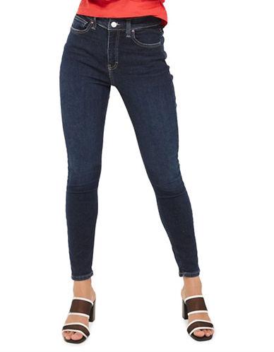 Topshop MOTO Dark Indigo Jamie Jeans 32 Inch Leg-INDIGO-25X32