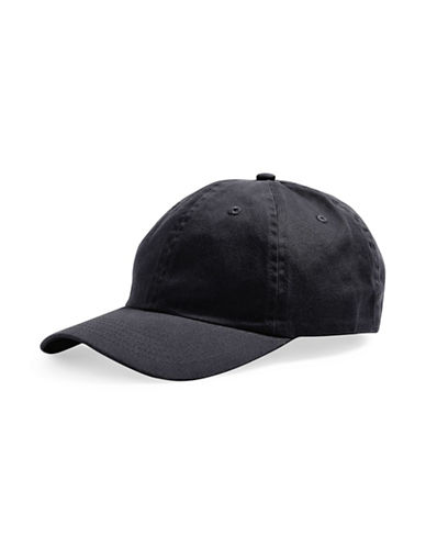 Topshop Washed Baseball Cap-BLACK-One Size