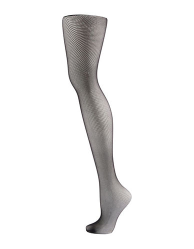 Topshop Micro Fishnet Tights-BLACK-Medium
