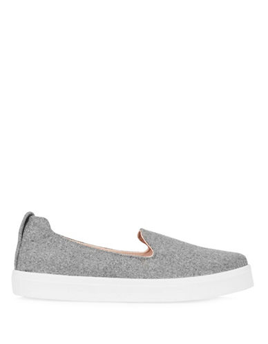 Topshop Temp Leopard Slip-On Trainers-GREY-EU 38/US 7.5