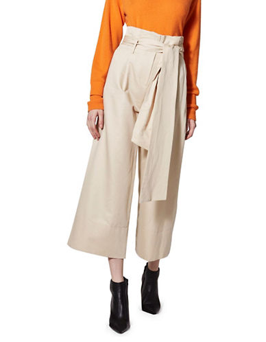 Topshop Paperbag Trouser by Boutique-BEIGE-UK 12/US 8