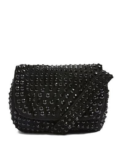 Topshop Kiki Gem Shoulder Bag-BLACK-One Size