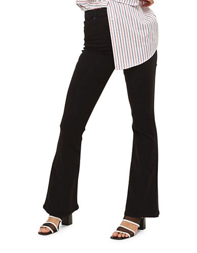 Topshop MOTO Black Flared Jamie Jeans 30 Inch Leg-BLACK-28X30