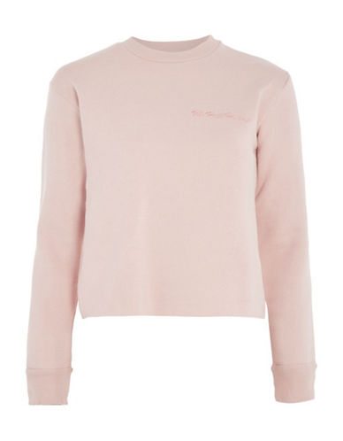Topshop Uh Huh Honey Sweatshirt by Tee and Cake-PINK-UK 6/US 2