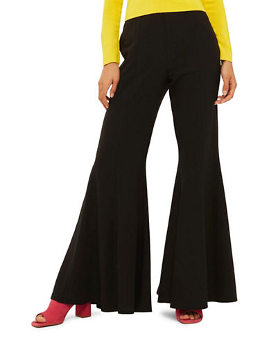 Topshop Extreme Flare Trousers-BLACK-UK 12/US 8