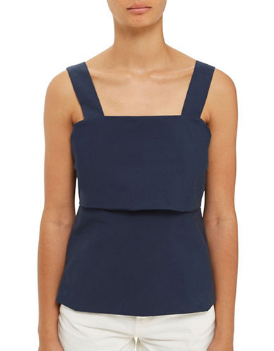 Topshop Tie-Back Cami-NAVY BLUE-UK 8/US 4