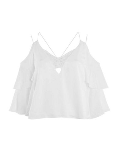 Topshop Double-Sleeved Lace Cami-IVORY-UK 8/US 4