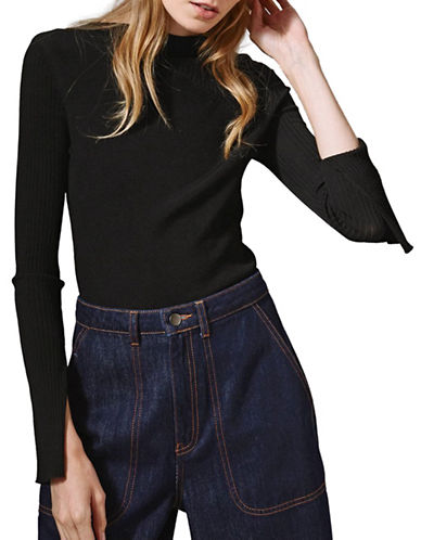 Topshop Round Neck Knitted Top by Boutique-BLACK-UK 10/US 6