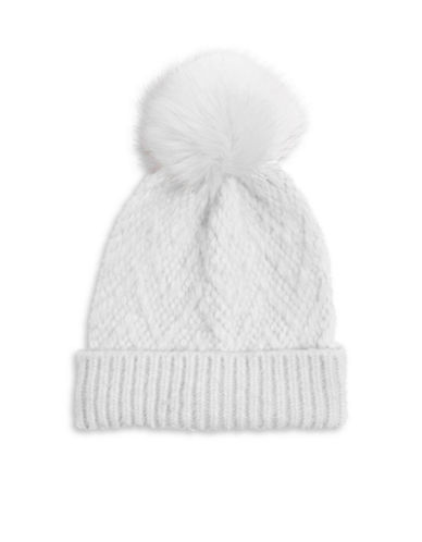 Topshop Zigzag Wool-Blend Tuque-LIGHT BLUE-One Size