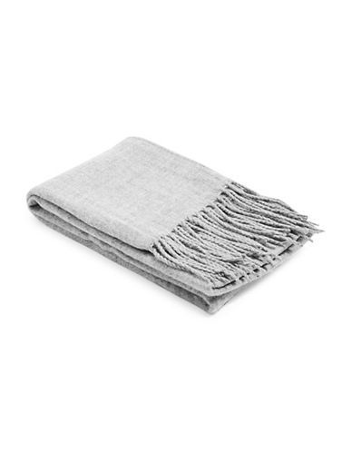 Topshop Supersoft Tassel Scarf-LIGHT GREY-One Size