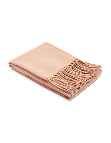 Topshop Supersoft Tassel Scarf-NUDE-One Size