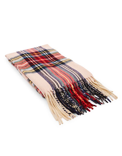 Topshop Traditional Tartan Scarf-LIGHT PINK-One Size