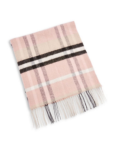 Topshop Girly Check Scarf-CREAM-One Size