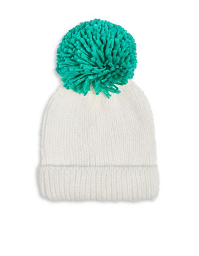 Topshop Big Knitted Pom Pom Tuque-GREEN-One Size