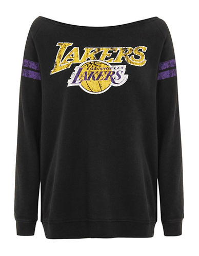 Topshop Los Angeles Lakers Bardot Sweat Dress by UNK-BLACK-Small