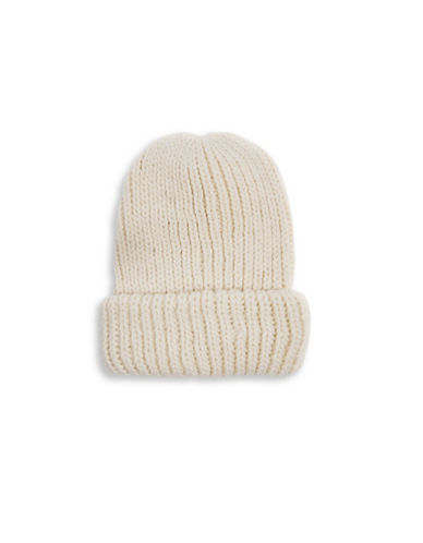 Topshop Knit Fisherman Tuque-CREAM-One Size