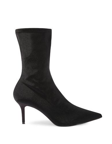 Topshop Mojito Sock Boots-BLACK-EU 39/US 8.5