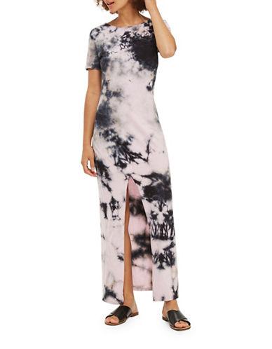 Topshop Tie-Dye Maxi Dress-PINK-UK 8/US 4