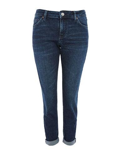 Topshop MOTO Lucas Boyfriend Jeans 32-Inch Leg-INDIGO-26X32