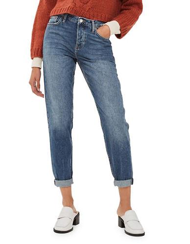 Topshop MOTO Hayden Boyfriend Jeans 32-Inch Leg-MID DENIM-26X32