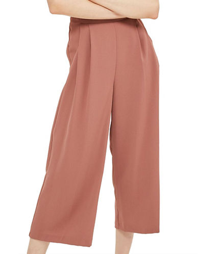 Topshop Sasha Crop Wide Pants-DARK PINK-UK 12/US 8