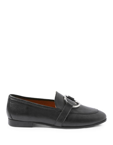 Topshop Kreme Ring Loafers-BLACK-11