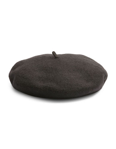 Topshop Wool-Blend Classic Beret-BLACK-One Size