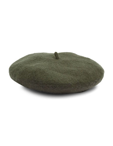Topshop Wool-Blend Classic Beret-KHAKI-One Size